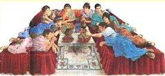 Les repas des romains