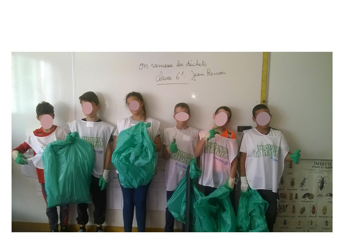 les élèves prêts à partir à l'assaut des déchets